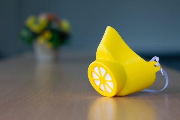 Alltagsmaske Gelb