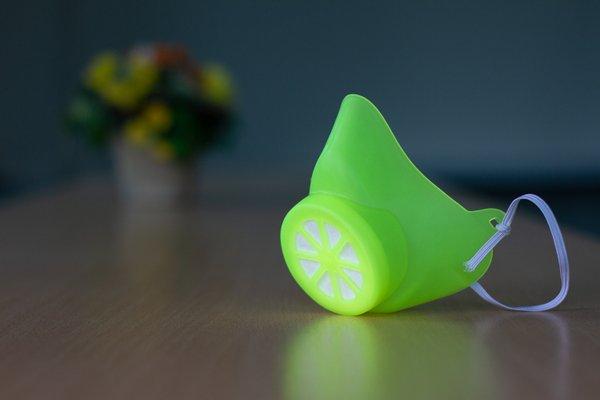 Alltagsmaske Neongelb