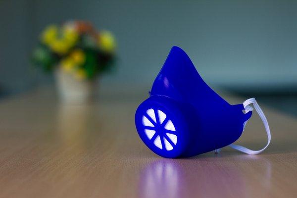 Alltagsmaske Größe L Blau